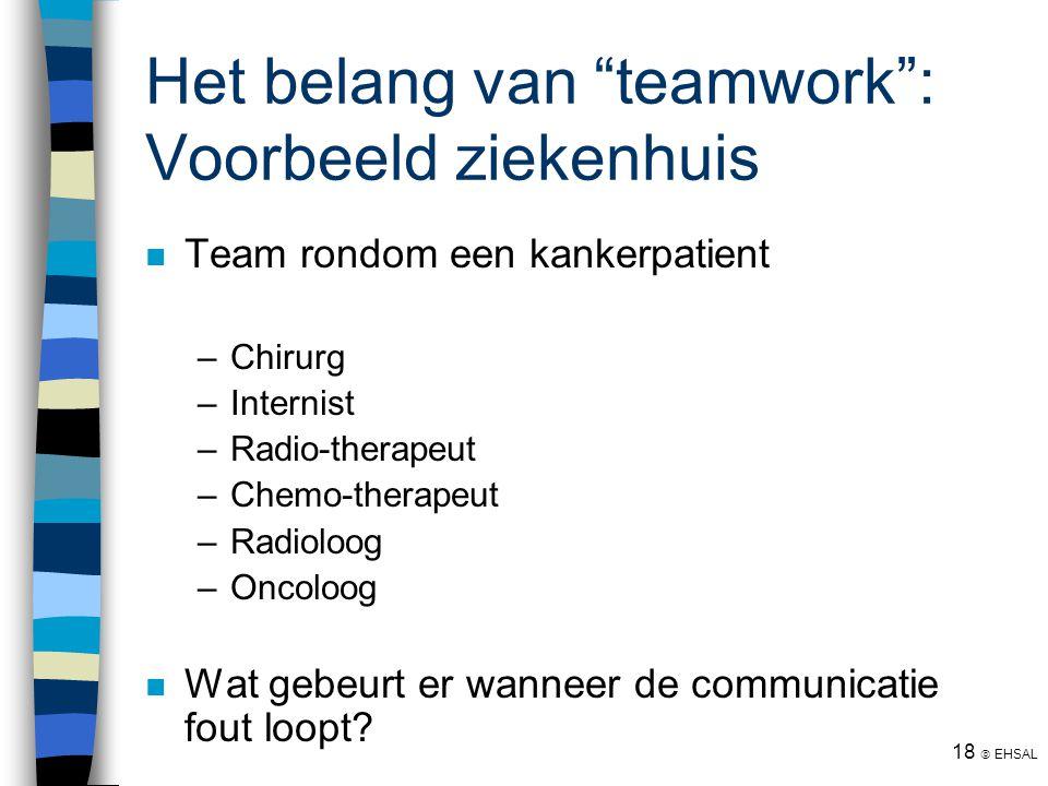 Het belang van teamwork : Voorbeeld ziekenhuis