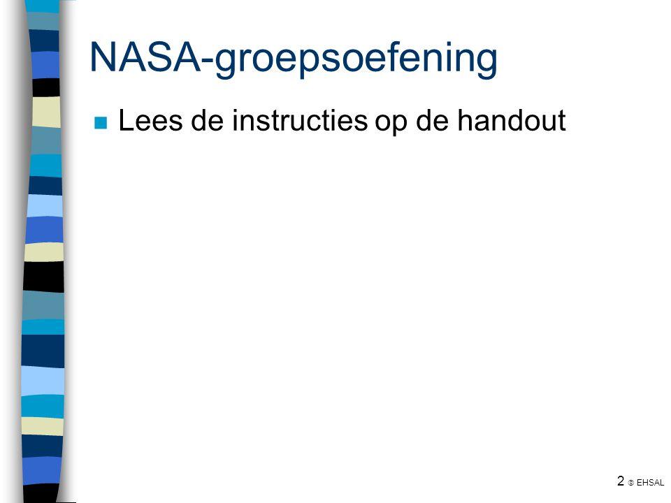 NASA-groepsoefening Lees de instructies op de handout