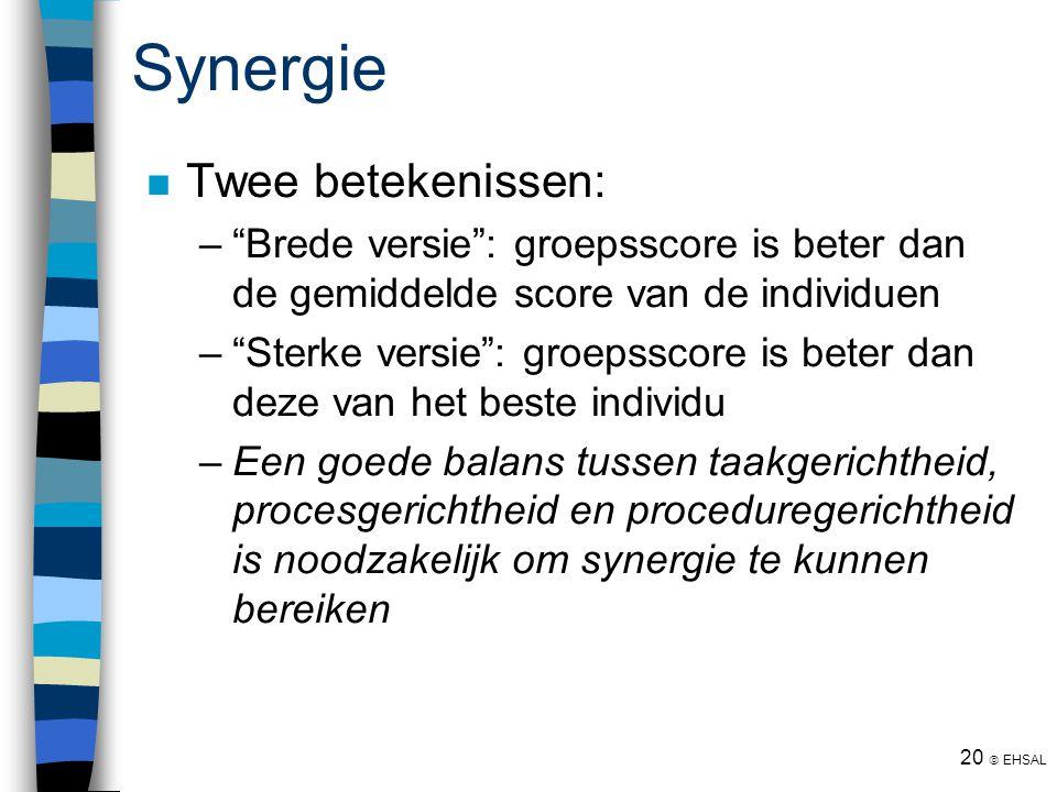Synergie Twee betekenissen: