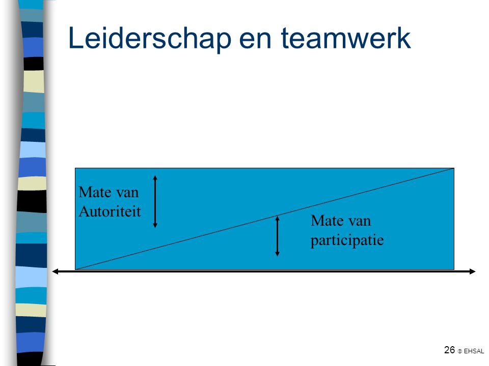 Leiderschap en teamwerk
