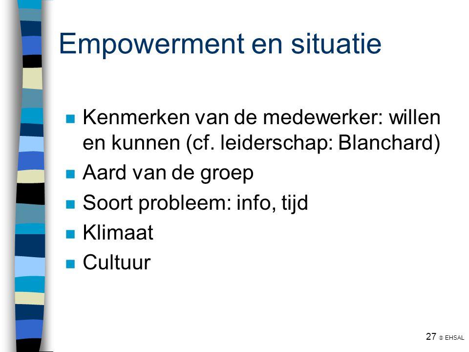Empowerment en situatie