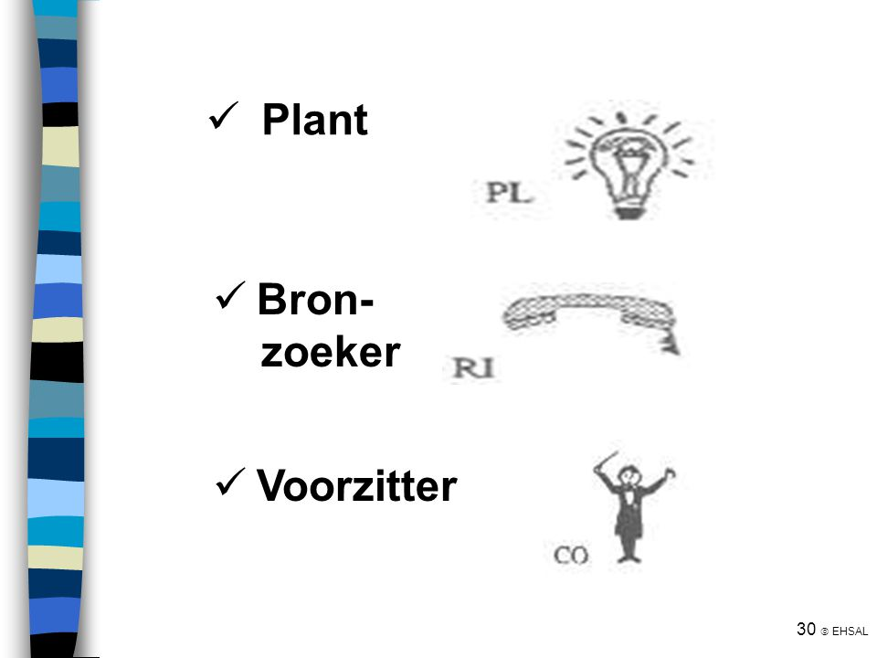 Plant Bron- zoeker Voorzitter