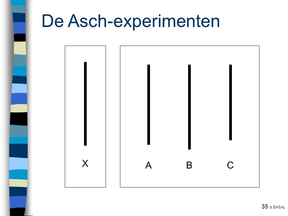 De Asch-experimenten A B C X