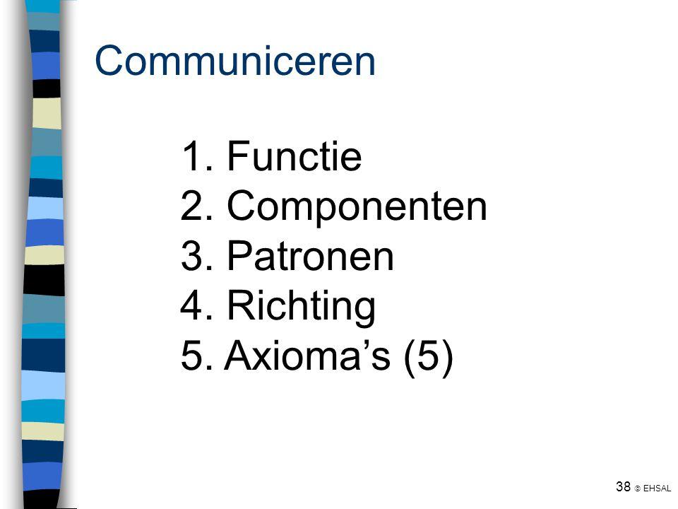 Communiceren Functie Componenten Patronen Richting Axioma's (5)