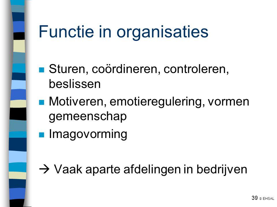 Functie in organisaties