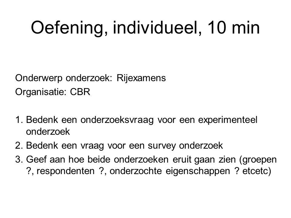Oefening, individueel, 10 min