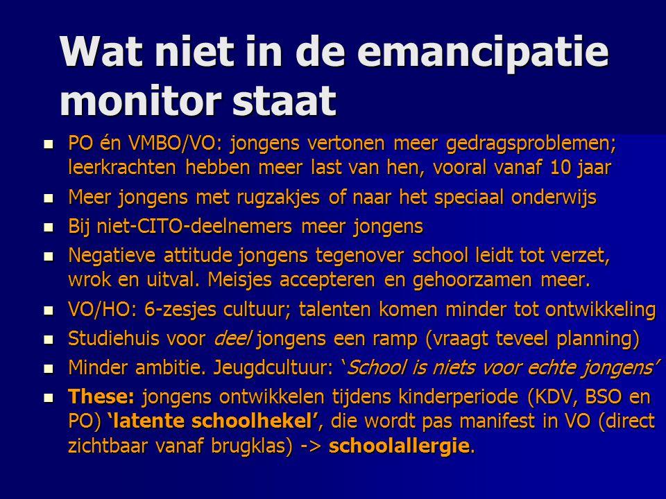 Wat niet in de emancipatie monitor staat