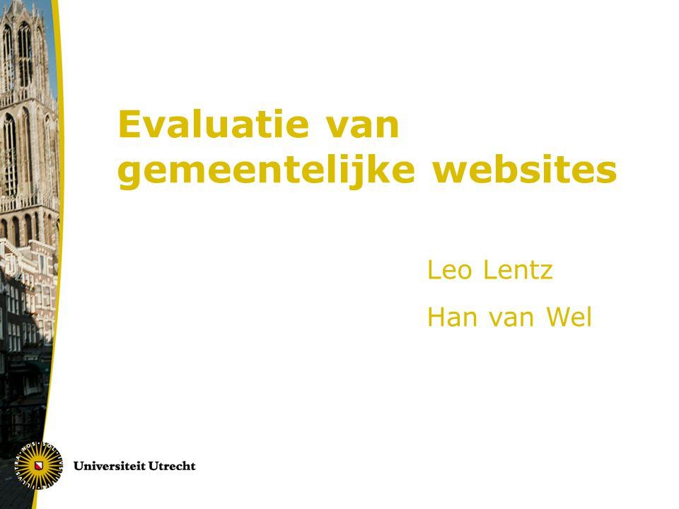 Evaluatie van gemeentelijke websites
