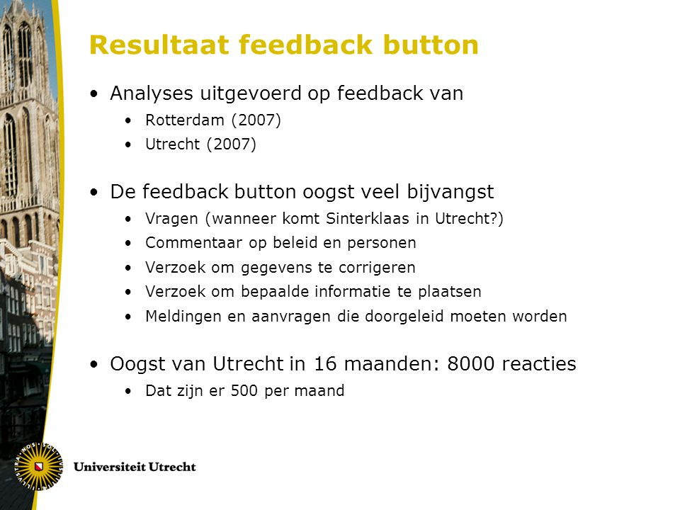Resultaat feedback button