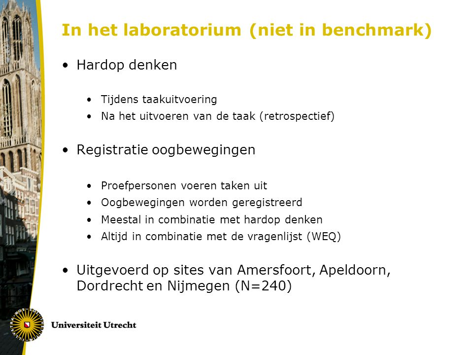 In het laboratorium (niet in benchmark)
