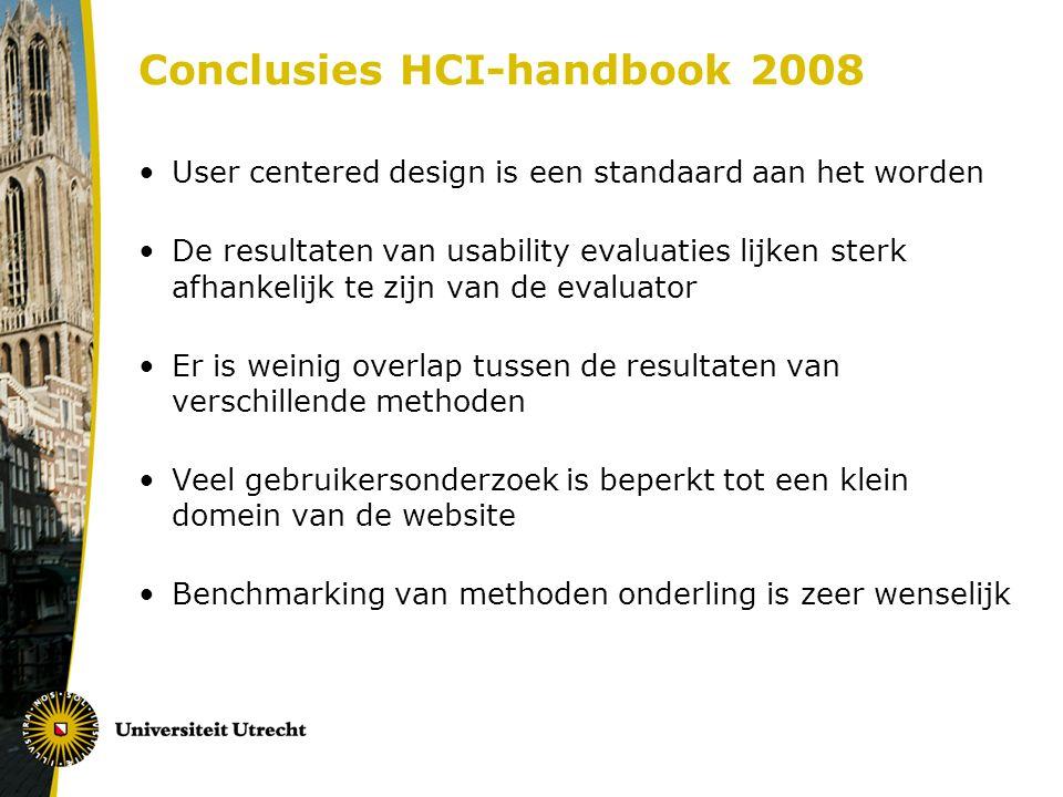 Conclusies HCI-handbook 2008