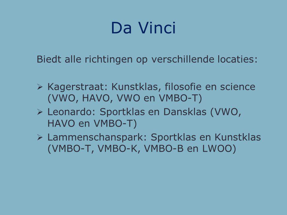 Da Vinci Biedt alle richtingen op verschillende locaties:
