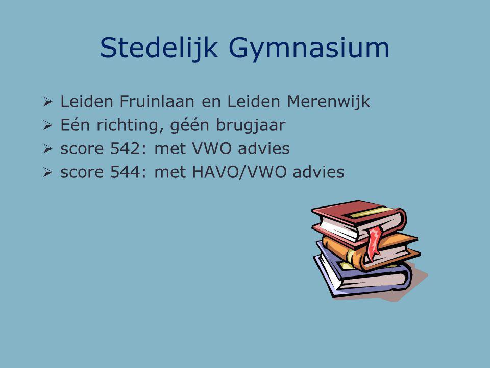 Stedelijk Gymnasium Leiden Fruinlaan en Leiden Merenwijk