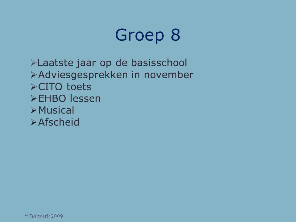 Groep 8 Laatste jaar op de basisschool Adviesgesprekken in november