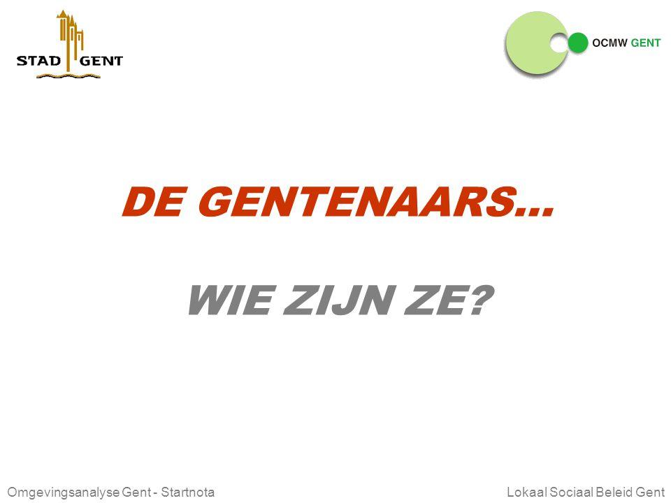DE GENTENAARS… WIE ZIJN ZE Lokaal Sociaal Beleid Gent