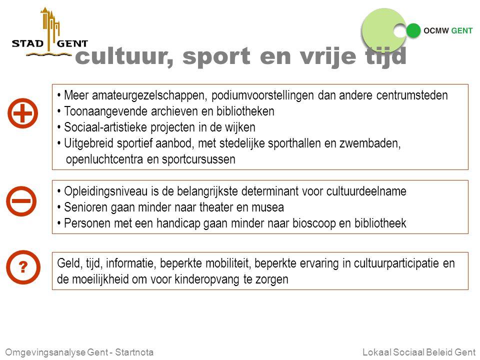 cultuur, sport en vrije tijd