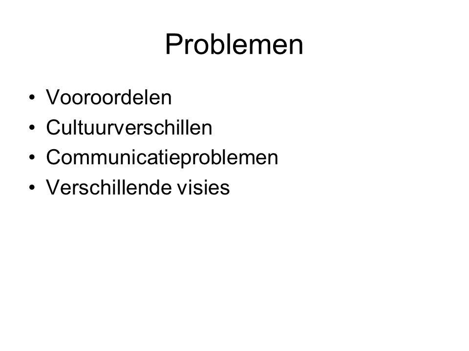 Problemen Vooroordelen Cultuurverschillen Communicatieproblemen