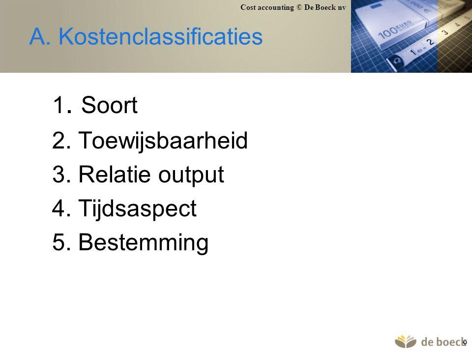 A. Kostenclassificaties