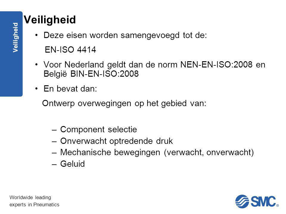 Veiligheid Deze eisen worden samengevoegd tot de: EN-ISO 4414