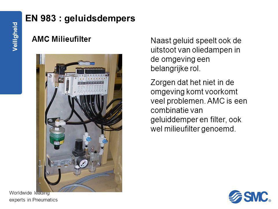 EN 983 : geluidsdempers AMC Milieufilter