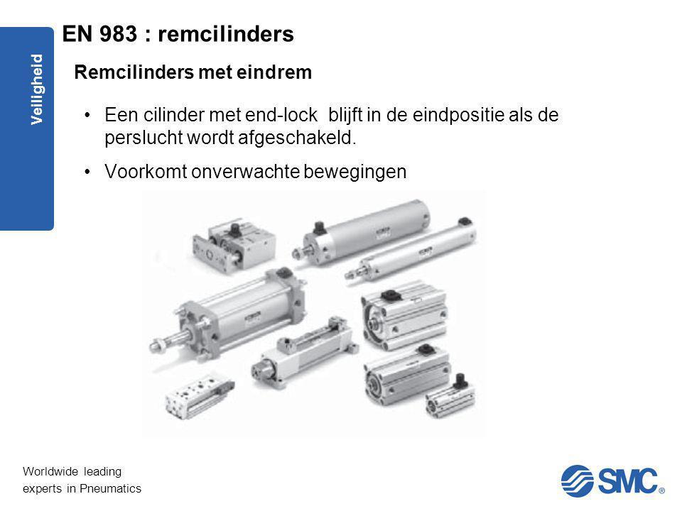 EN 983 : remcilinders Remcilinders met eindrem