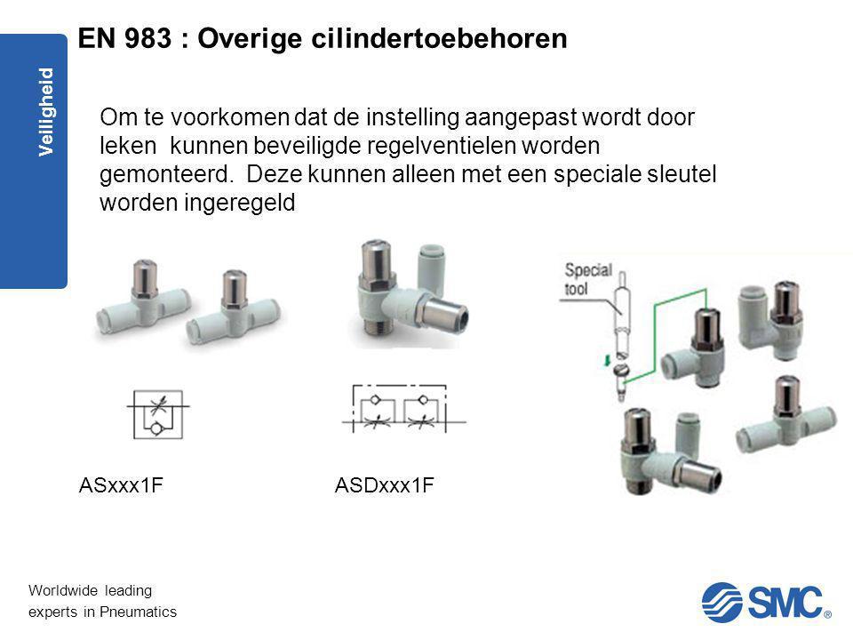 EN 983 : Overige cilindertoebehoren