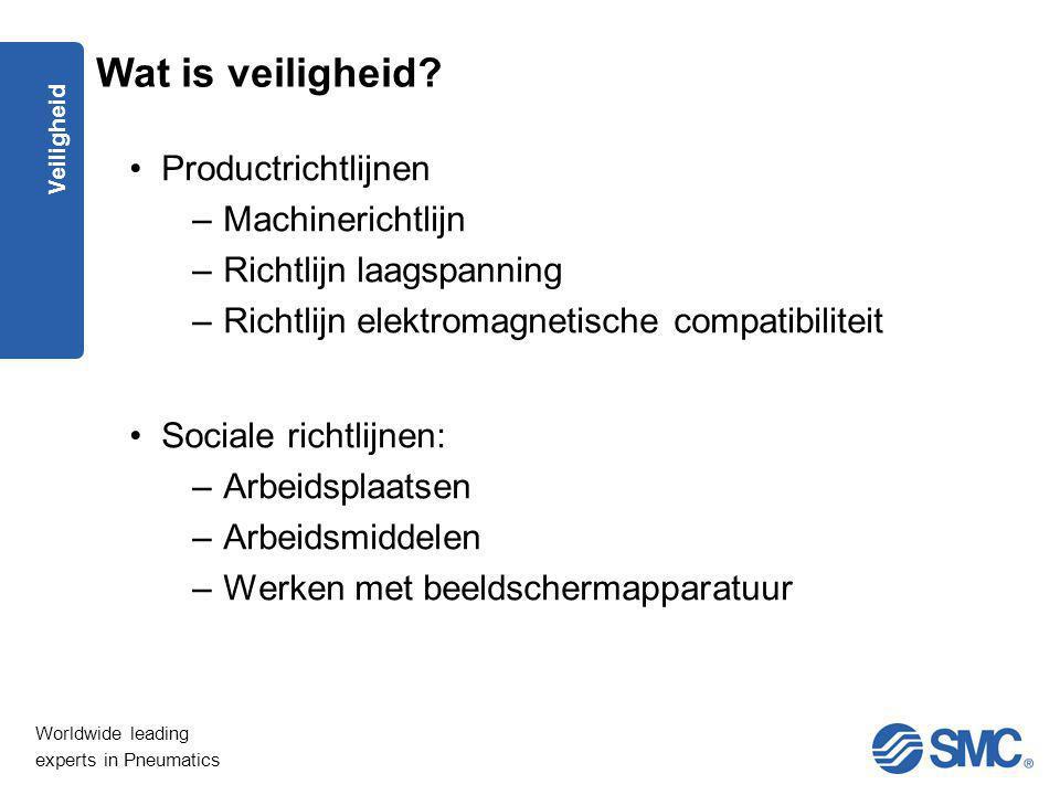 Wat is veiligheid Productrichtlijnen Machinerichtlijn