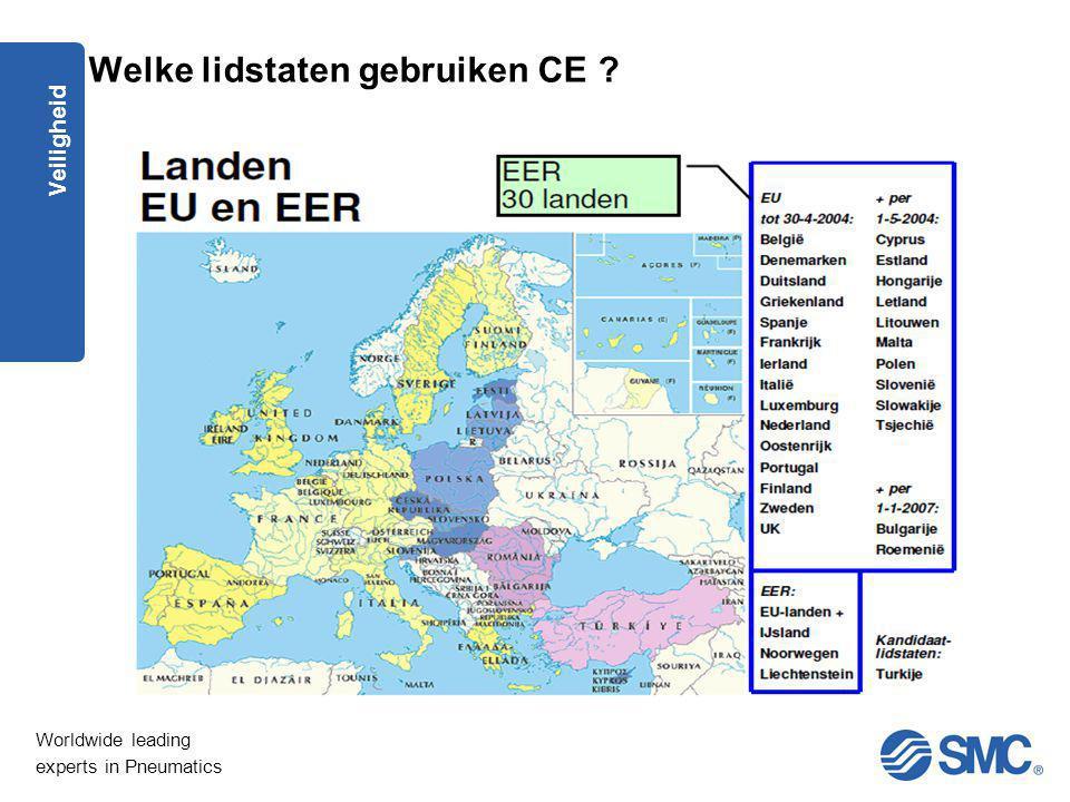 Welke lidstaten gebruiken CE