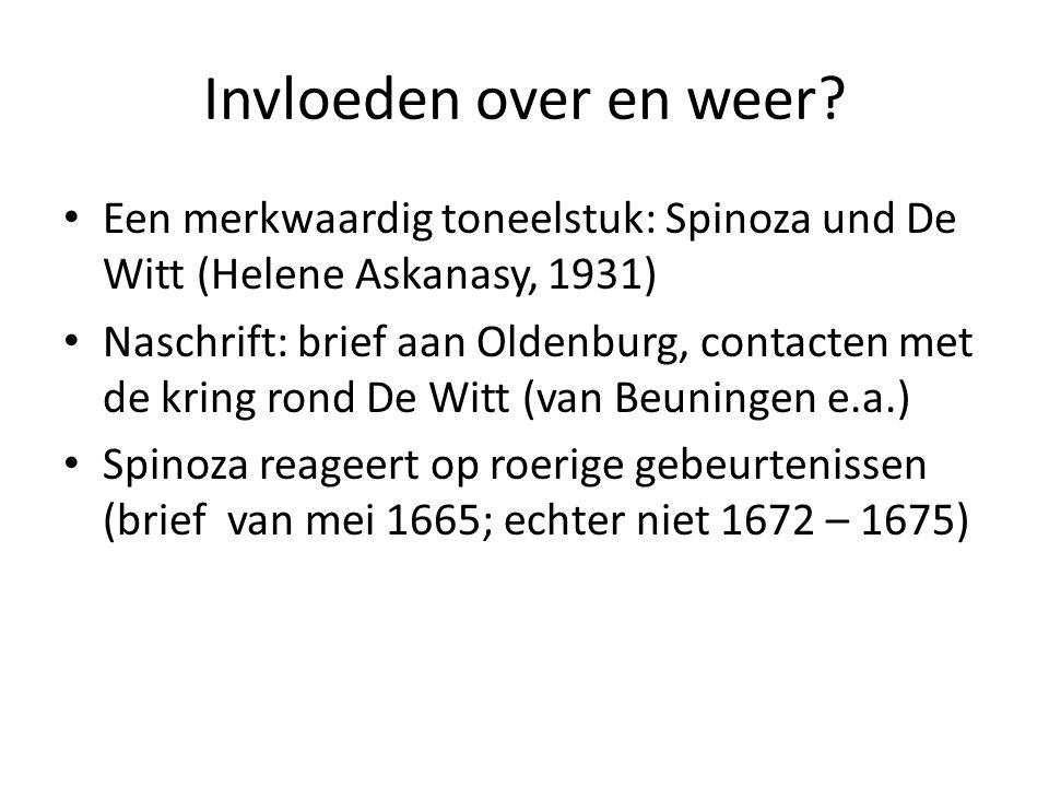 Invloeden over en weer Een merkwaardig toneelstuk: Spinoza und De Witt (Helene Askanasy, 1931)