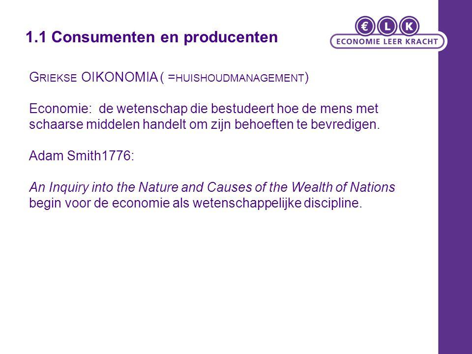 1.1 Consumenten en producenten