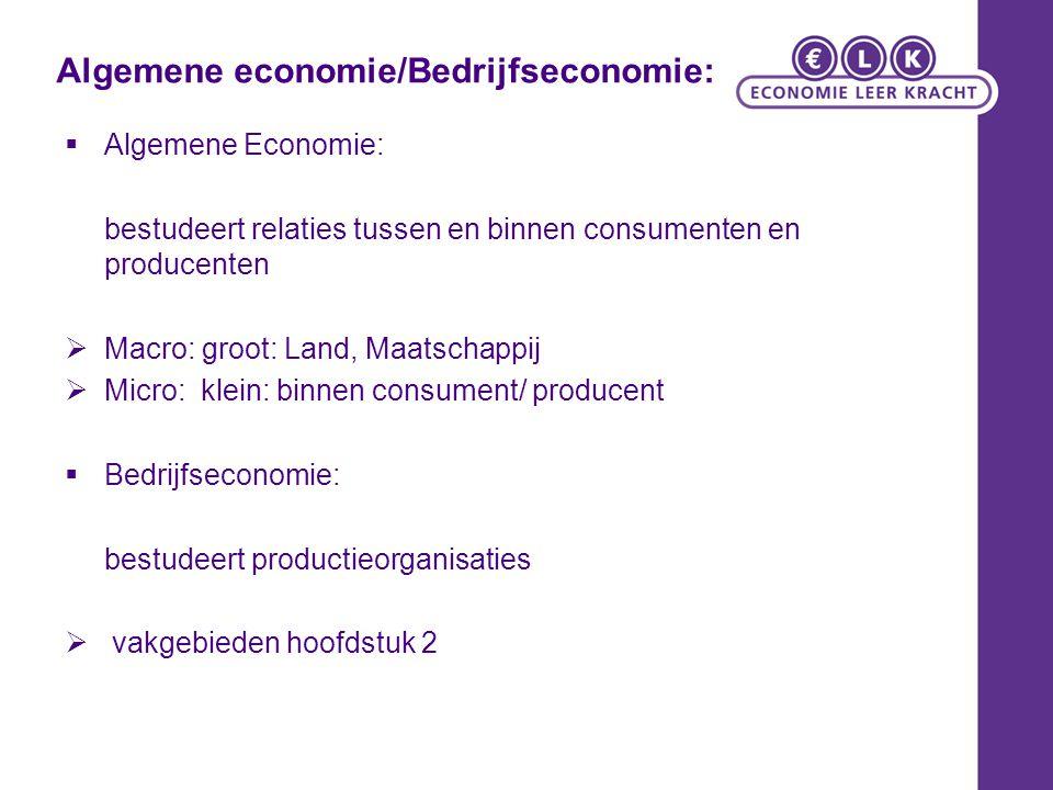 Algemene economie/Bedrijfseconomie: