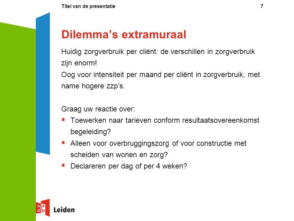 Dilemma's extramuraal
