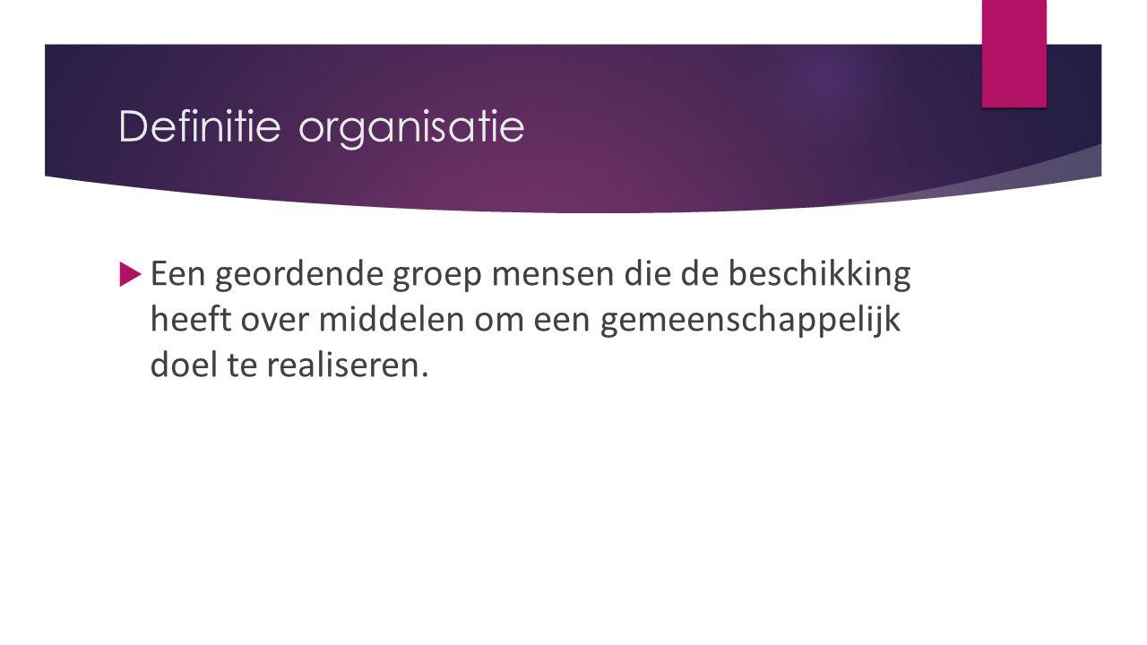 Definitie organisatie
