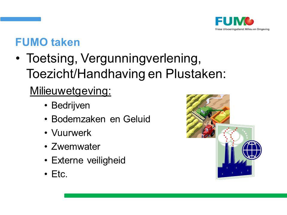 Toetsing, Vergunningverlening, Toezicht/Handhaving en Plustaken: