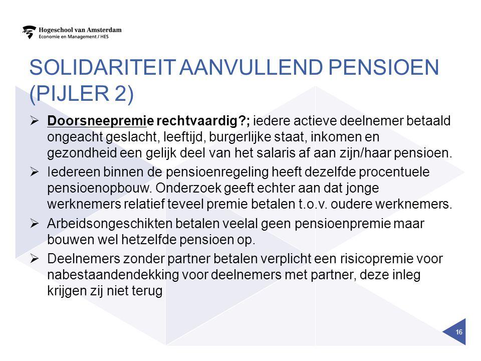 Solidariteit aanvullend pensioen (pijler 2)