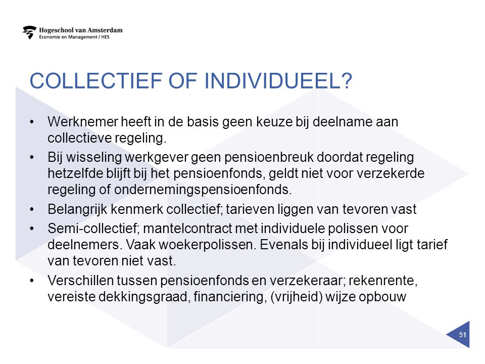 Collectief of individueel