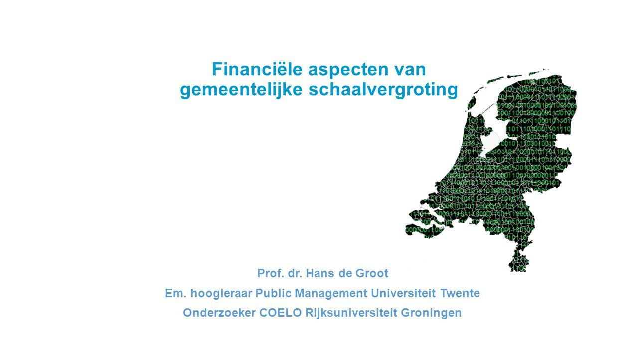 Financiële aspecten van gemeentelijke schaalvergroting