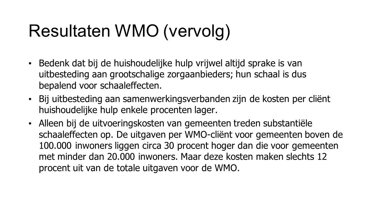 Resultaten WMO (vervolg)