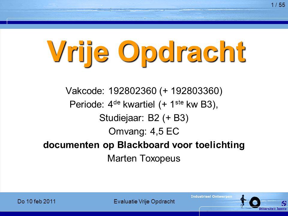 documenten op Blackboard voor toelichting