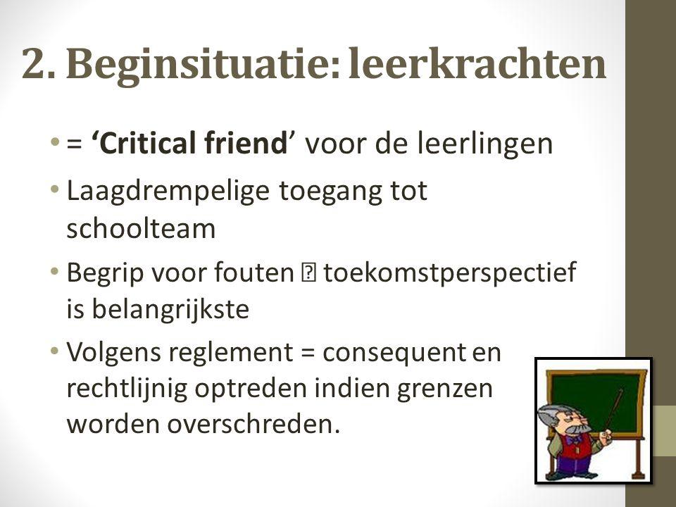 2. Beginsituatie: leerkrachten