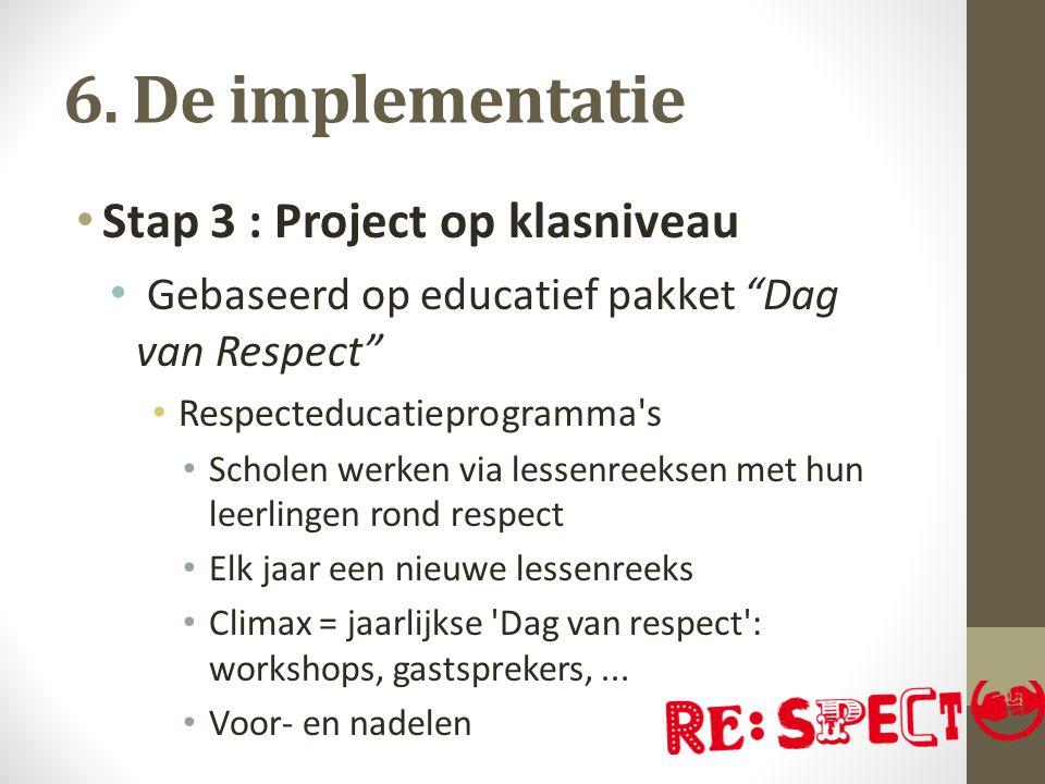 6. De implementatie Stap 3 : Project op klasniveau