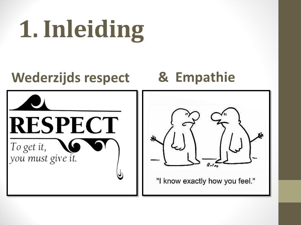 1. Inleiding Wederzijds respect & Empathie