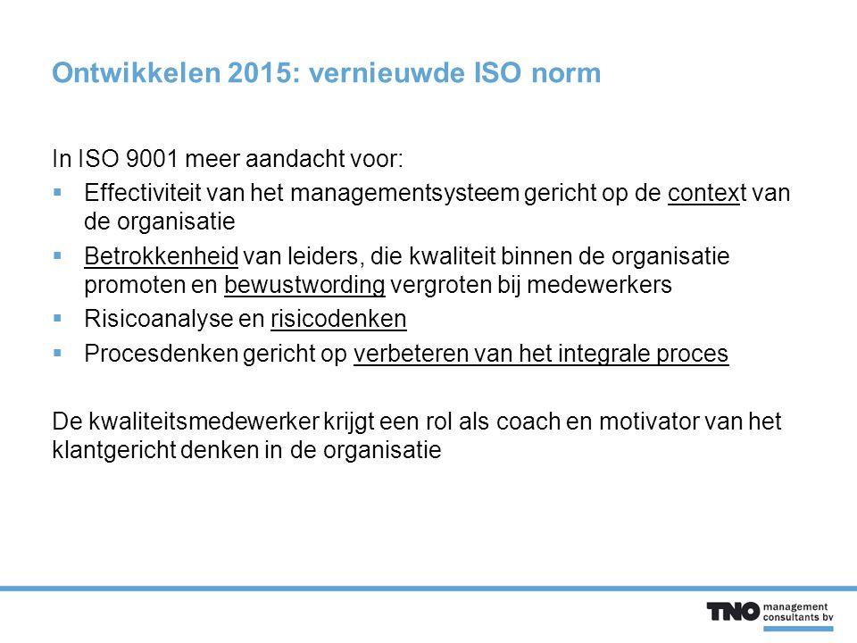 Ontwikkelen 2015: vernieuwde ISO norm
