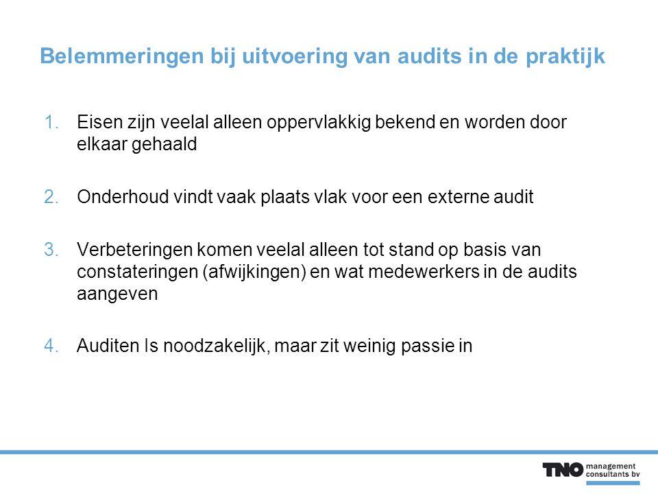 Belemmeringen bij uitvoering van audits in de praktijk