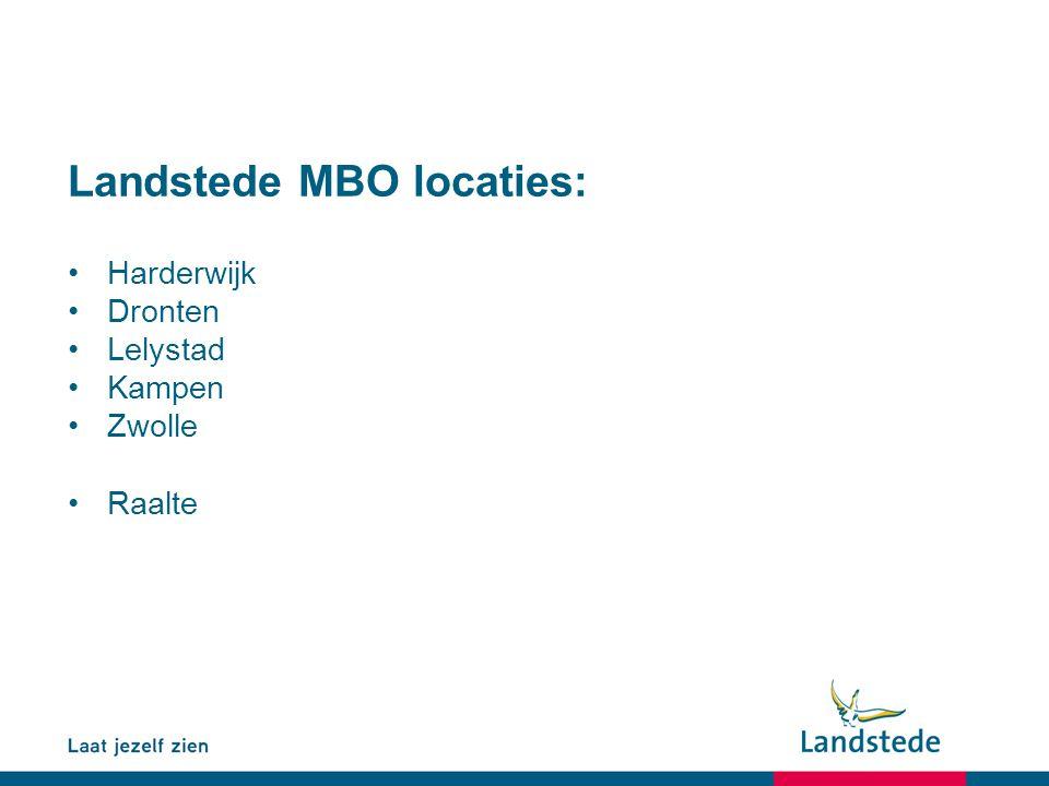Landstede MBO locaties: