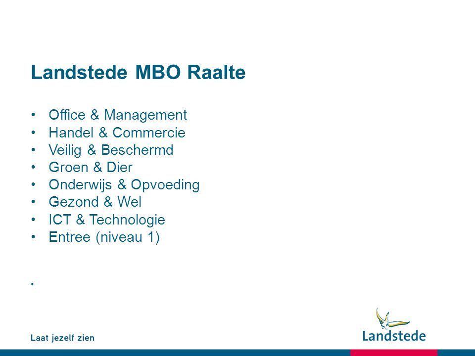 Landstede MBO Raalte Office & Management Handel & Commercie