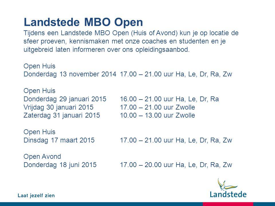 Landstede MBO Open