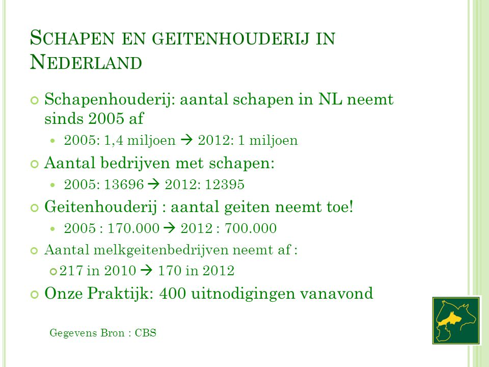 Schapen en geitenhouderij in Nederland