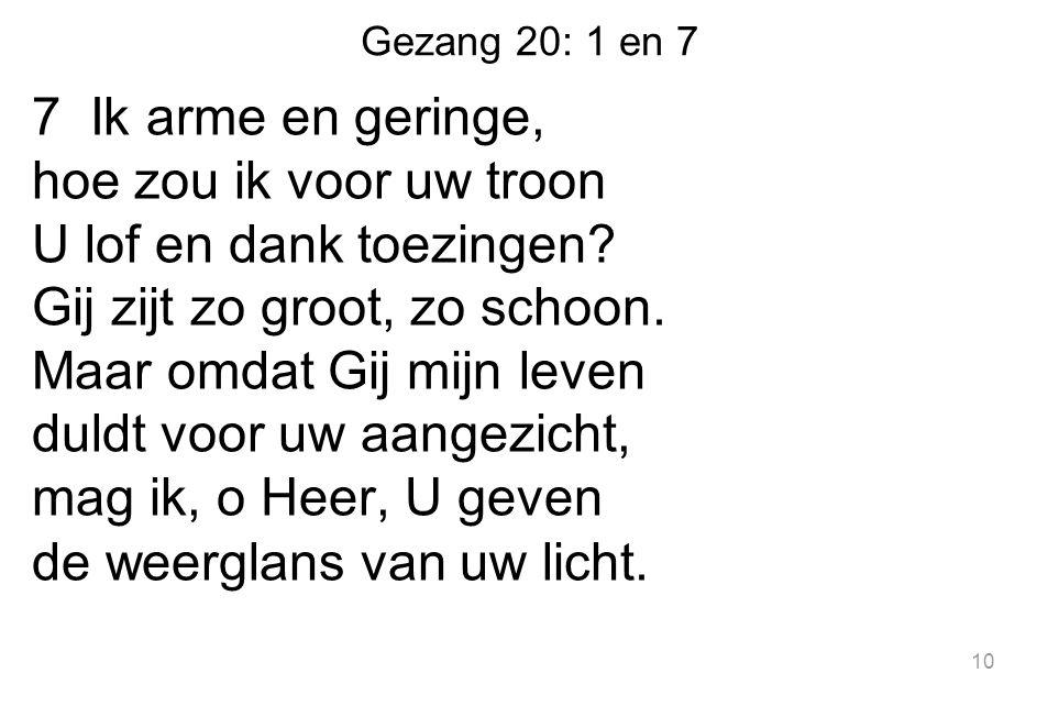 Gezang 20: 1 en 7