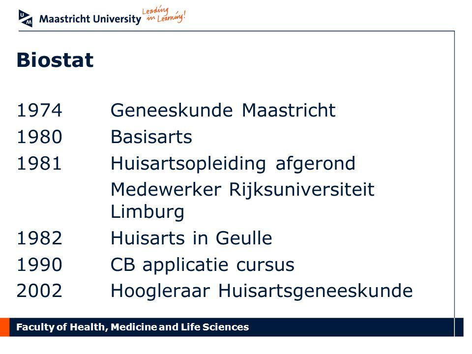 Biostat Geneeskunde Maastricht Basisarts Huisartsopleiding afgerond